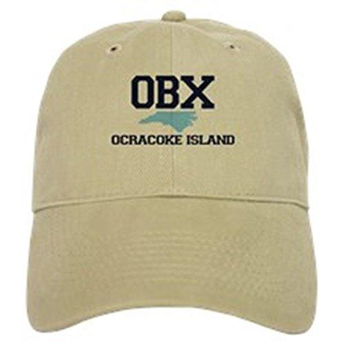 - CafePress Ocracoke Island - Map Design Baseball Cap with Adjustable Closure, Unique Printed Baseball Hat Khaki