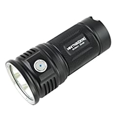 Specification:  • LED: Three CREE XP-L V6 LEDs with a lifespan of 20+ years of run time.  • Six output mode: firefly, low, medium, high turbo and strobe.  • Battery: 4 x 18650 (ThruNite 18650 3400mAh)  • Working Voltage: 10.5 - 17 V  • Workin...