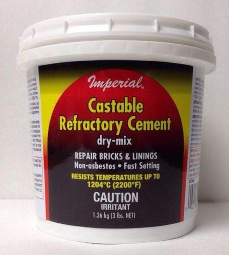 (GIGA-MARKET) Refractory Cement Clay for Big Green Egg Kamado Stove Repair by (GIGA-MARKET)