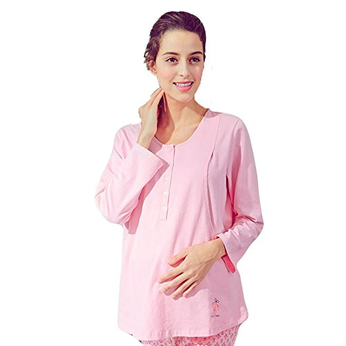 luna donne per e al vestiti al Rosa in incinte per in l'allattamento l'allattamento seno seno i inverno della escono in mjy mettono I pigiama le vestiti vestiti nutrire autunno FzttBX