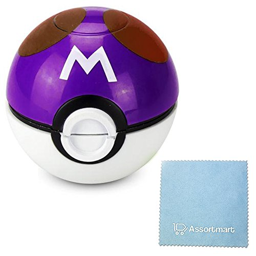 Pokemon Ball Pokeball Grinder Tobacco Weed Spice Herb With Pollen Catcher (Master Ball)