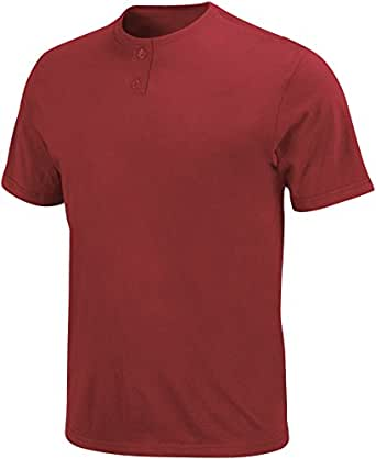 Majestic Men's Basic 2-Button Placket Baseball Jersey XXX-Large Pro Brick