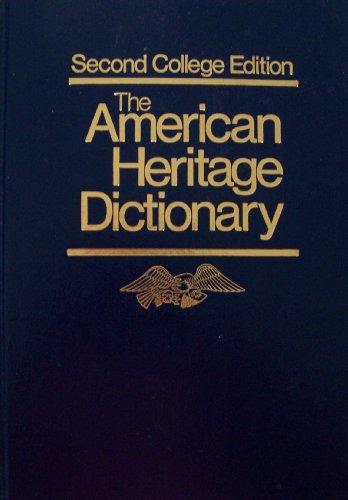 an analysis of the second college edition of the american heritage dictionary Breakdown is a rapid reduction in the resistance of an electrical insulator that can lead to a spark jumping around or through the insulator breakdown is the sudden transition from a high to a low dynamic resistance in a semiconductor device.