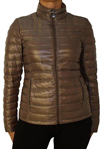 1623 Ladies ultralight transition, winter quilted down jacket beige, blue, brown khaki, black, S, M, L, XL, XXL! Brown Khaki