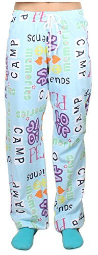 Gilbins Unisex Youth 100% Knit Jersey Cotton Drawstring Lounge Pajama Pants (Small/Medium 10-14, Camp Peace Love)