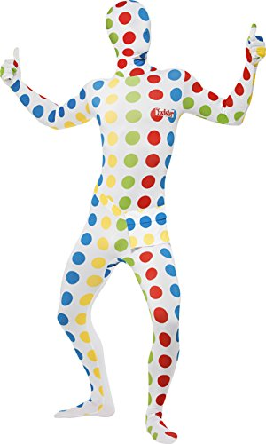Twister Costume Men (Smiffy's Multi Colour Large Men's Fancy Dress Twister Second Skin Suit)