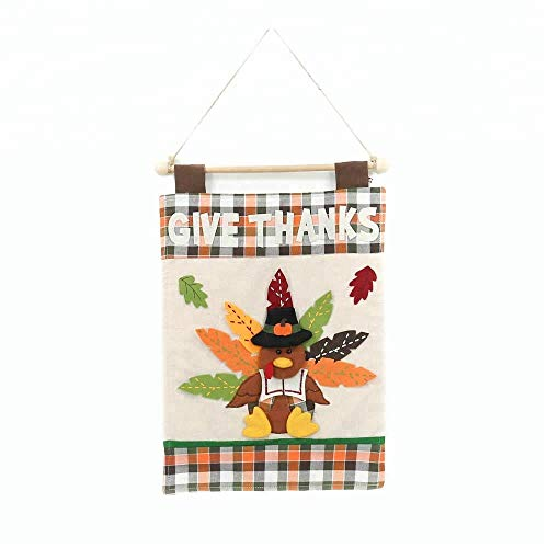 Fabric Turkey Door or Wall Hanging for Thanksgiving Harvest Fall Decorations