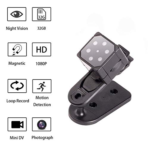 SQ19 HD Surveillance Camera, Small Camera Sports DV, Mini Spy Camera, Mini Hidden Camera with Night Vision Motion Detection
