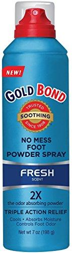Gold Bond Foot Spray 7z, No Mess, Medium ( Pack Of 4 ) -
