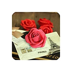 Sharing lives Artificial Flowers 50 Pieces 6 7Cm Foam Rose Head for Wedding Home Decoration,7 30