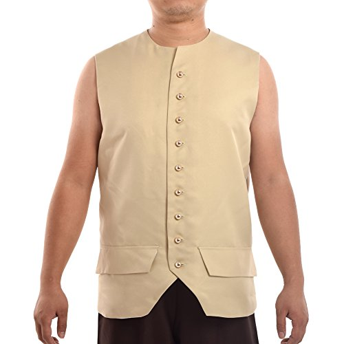 BLESSUME Vintage Colonial Vest (Colonial Pirate Costume)