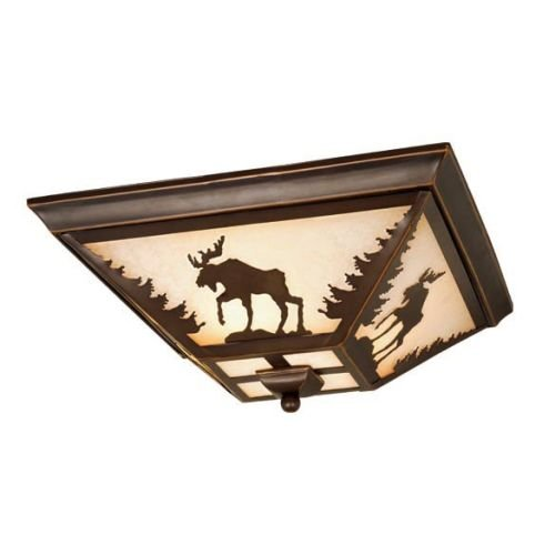 Vaxcel CC55614BBZ Yellowstone Flush Mount, 14″, Burnished Bronze Finish Review