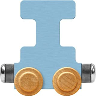 product image for Maple Landmark NameTrain Pastel Letter Car I - Made in USA (Blue)