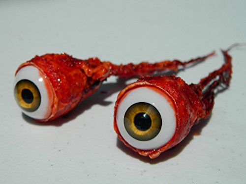 Pair of Realistic Life Size Bloody Ripped Out Eyeballs - Halloween Props - -