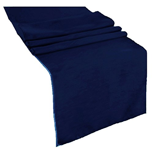 runner linens Table Runner 14x108 Inches Ideal for Wedding, Baby Shower, Home, Restaurant, Party rental By Factory (Navy Blue) ()
