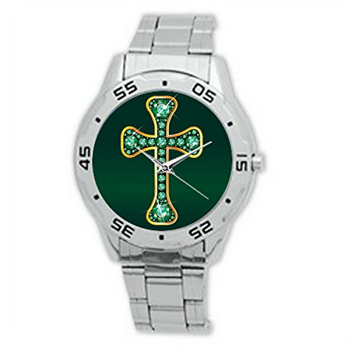 FCA002	Emerald Analogue Stainless Steel Men's (Emerald Mens Watch)