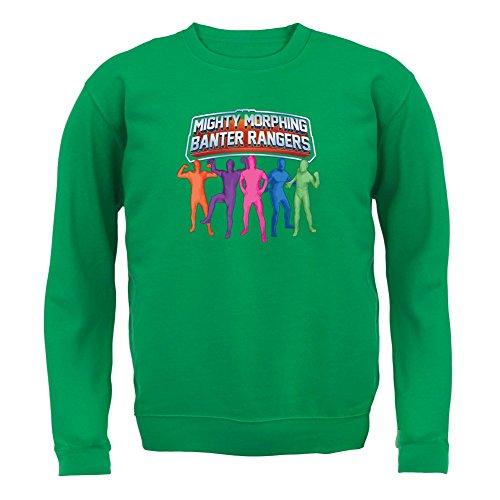 Mighty Morph Rangers - Kids Jumper / Sweater - Green - XXL(12-13 Years) (Green Ranger Morph Suit)