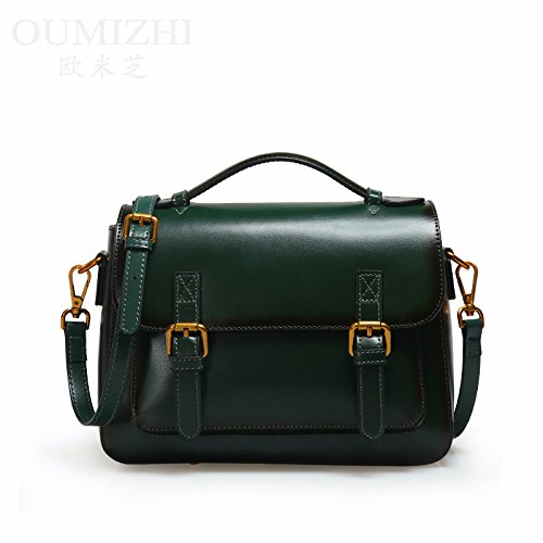 green Bag Messenger GUANGMING77 Rojo Señoras Blackish Temperamento Bolso x0wqUTt