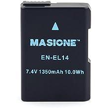 MASIONE 7.4V Li-ion EN-EL14 Battery for Nikon D3100 D3200 D3300 D5100 D5200 D5300 D5500 P7000 P7100 P7700 DSLR Cameras EN-EL14a