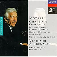 Mozart: Great Piano Concertos. Nos 20,21,23,24,25