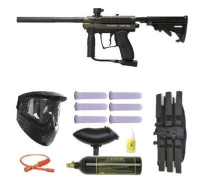 Spyder MR100 Pro Paintball Marker Gun 3Skull Mega Set - Olive - 2 Pack