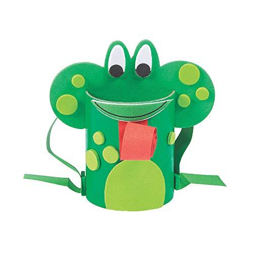 개구리 공예 튜브 공예 키트 -12-어린이와 재미있는 가정 활동을위한 공예