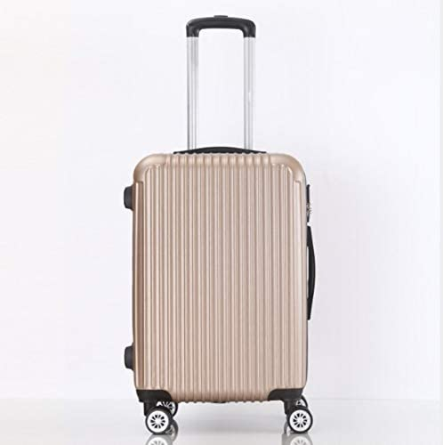 Color : Gold, Size : L GaoMiTA Large Capacity 26 inch 28 inch ABS Trolley case Luggage Universal Wheel Password Suitcase Men and Women