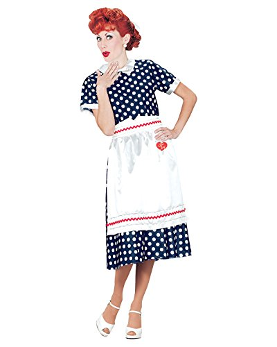 Official I Love Lucy Costume Television Costumes 50s Retro Celebrity Costumes Sizes: - Celebrity Costumes Ideas Halloween