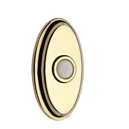Baldwin Reserve 9BR7016004 Oval Bell Button Lifetime Brass Finish