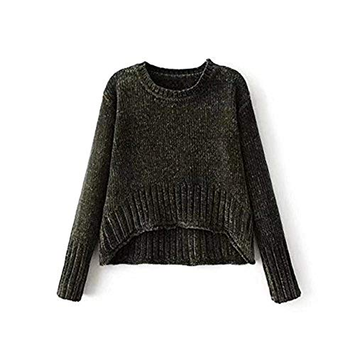 Rond Tricot Femme Irr Longues Pullover Manches Col xUUwqIrBT