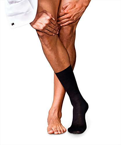 Falke Men's No. No. 6 Finest Merino & Silk Sock, black, 43-44