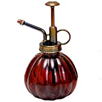 Hongsawat.jawan5612 Vintage Watering Cans Retro Glass Flowers Kettle Garden Watering Can Vintage Palace Pumpkin Glass Spray Bottle Press Plant Pouring Cans