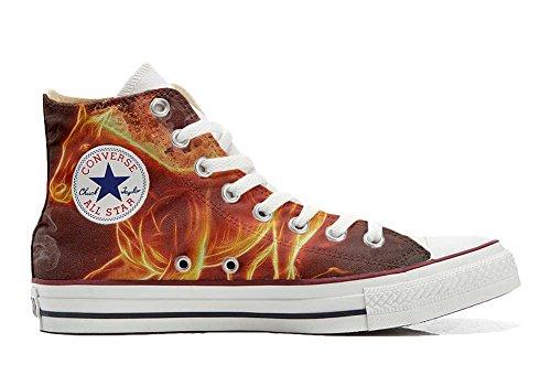 Converse All Star zapatos personalizados Unisex (Producto Artesano) caballo de fuego