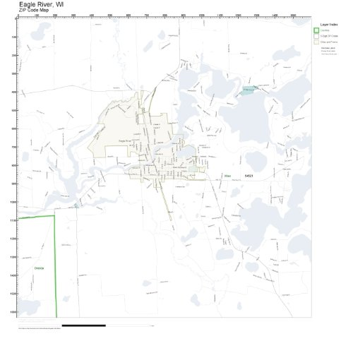 ZIP Code Wall Map of Eagle River, WI ZIP Code Map Not for sale  Delivered anywhere in USA