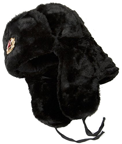 (Hat Russian Ushanka Black-58 Soviet Army Soldier)
