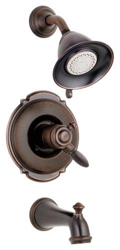 Faucets Bronze Faucet Trim California (Delta 1755RB-716RB Victorian, Monitor(R) 17 Series Tub And Shower Trim, Venetian Bronze)
