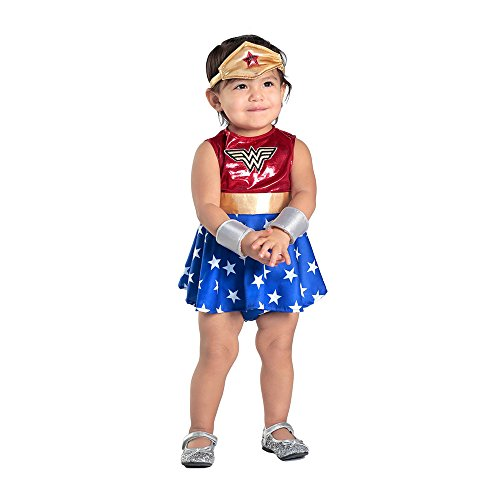 Princess Paradise Baby Girls' Wonder Woman Costume Dress and Diaper Cover Set, As Shown, 6 to 12 Months