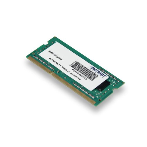 Patriot Signature 4GB DDR3 PC3-12800 (1600MHz) CL11 SODIMM Memory Module (Pc 3200 Sodimm 200 Pin)