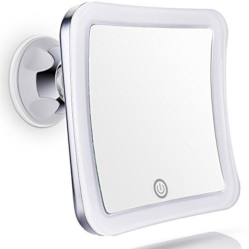 Sanheshun Kosmetikspiegel Beleuchtet Reise-Schminkspiegel mit 7-fach Vergrößerung, warmem LED-Licht
