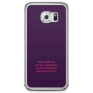 Samsung Galaxy S6 Edge Transparent Edge Phone Case Girls Samsung Galaxy S6 Edge Transparent Edge Phone Case Women Competition Samsung Galaxy S6 Edge Cover with Transparent Edge