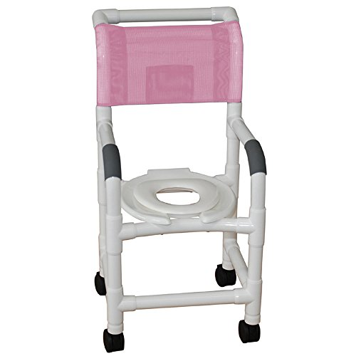 Seat 250 Lb Cap (MJM International 115-3TW-RH Pediatric Shower Chair with Reducer Hard Seat, Royal Blue/Forest Green/Mauve)