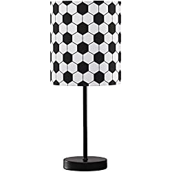 Ashley Furniture Signature Design - Lamar Soccer Motif Metal Table Lamp - Children's Lamp - Black & White