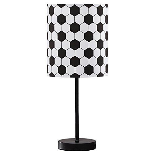 Ashley Furniture Signature Design - Lamar Soccer Motif Metal Table Lamp - Children's Lamp - Black & White