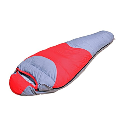 Meanhoo 74x31'' Warm Winter Sleeping Bag Envelope Sleeping Bags with Stroage Bag for Camping Hiking Travelling Backpacking (Red) (Outbound Trading Co compare prices)