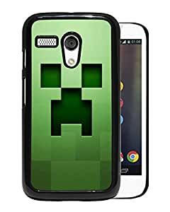 For Moto G,minecraft background graphics green Black Case Cover For Moto G