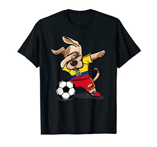 - Dog Dabbing Ecuador Soccer Jersey Shirt Ecuadorean Football