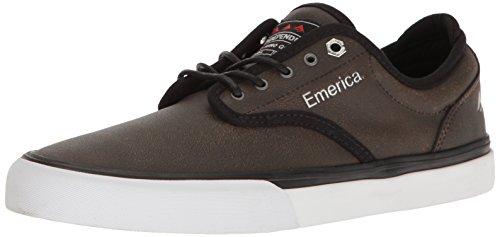 Emerica Men's Wino G6 Navy Gum Skateboarding Shoes, White brown/black