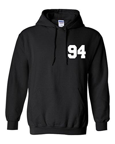 Ashton Irwin 94 Unisex Mens Womens Hoodie Sweatshirt Jumper Pullover, Black, M