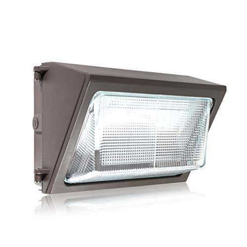 Parmida LED Wall Pack Light, 80W (350W MH Replacement), 0-10V Dimmable, 5000K, 9600LM, ETL, Made with Real Glass, Waterproof Rated, Outdoor Wall Light