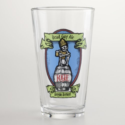 Rogue Brewery (Rogue Dead Guy Ale Beer Pint Glass | Set of 2 Glasses)